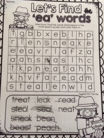 Word search, she can read all of these words!